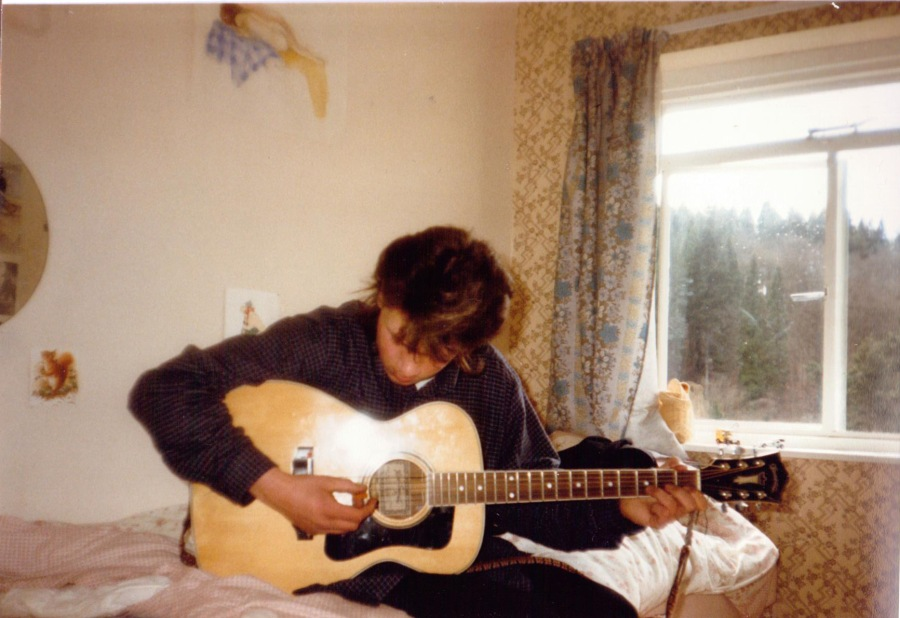 Zac when he was 15 or 16. I still have that guitar