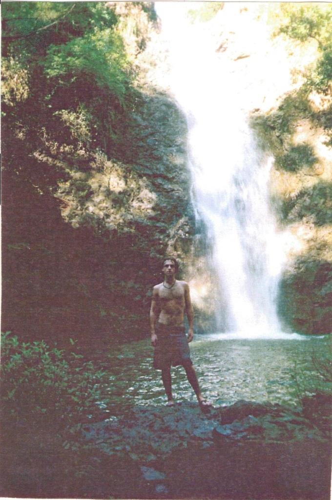 Zac near waterfall